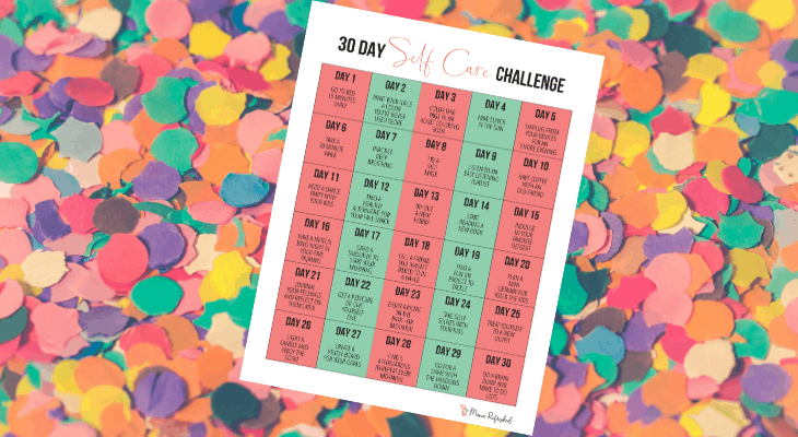 self care challenge for moms