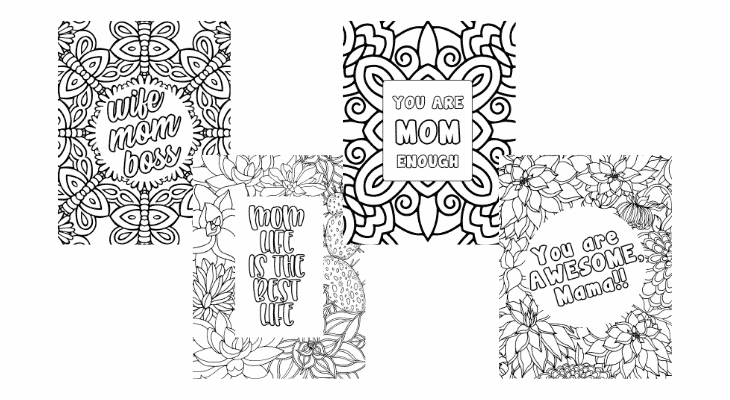 coloring pages for moms