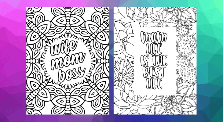 free coloring pages for moms
