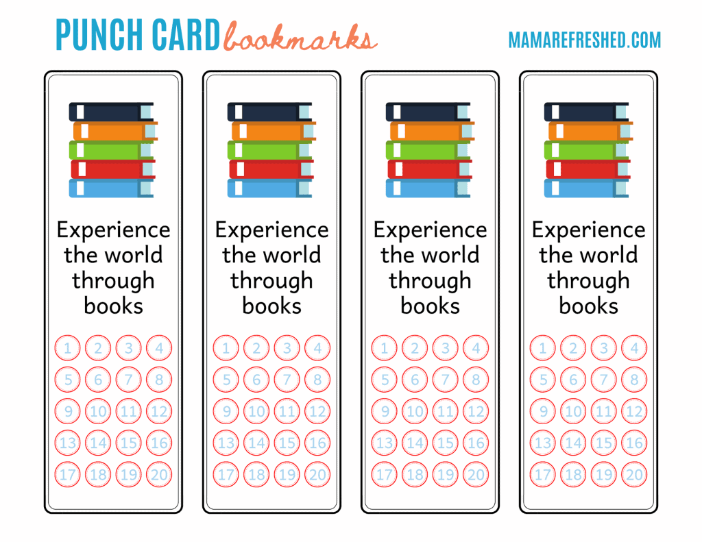Punch Card Bookmarks for Kids