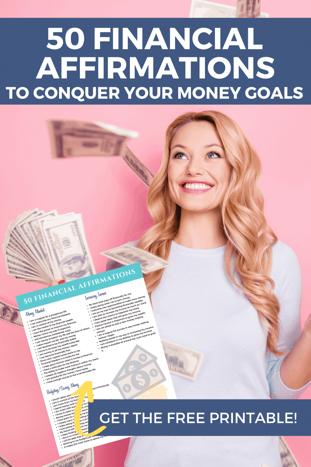 50 Financial Affirmations to Conquer your Money Goals (Free Printable)