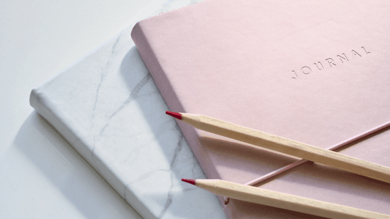 Writing in a Self Care Journal