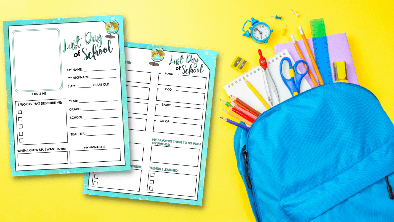 Last Day of School Interview Printables